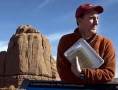 Regents Professor of the year Rob Tomas in Arches National Park