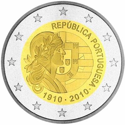 2 Euro Portugalsko 2010, 100. výročie Portugalskej republiky