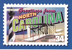USPS Greetings From North Carolina Postcard (crayolamom) Tags: nc postcard north carolina usps greetingsfromamerica