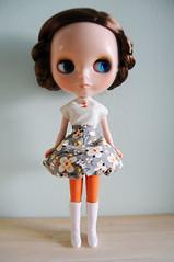 Gray Bubble Skirt