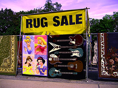 Ouch! (kmroddy) Tags: street yellow fun big bright kitsch rug tacky dover bold