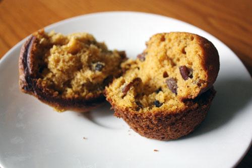 pumpkin pecan muffin.