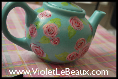 Painted Tea Pot Tutorial