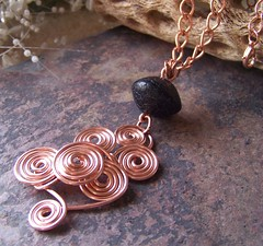 (lo4us_p) Tags: necklace wire handmade jewelry jewellery copper etsy coil pendant sculpted wirewrapped liquidsilver wireartjewelry wirejewelrydesign liquidsilver1
