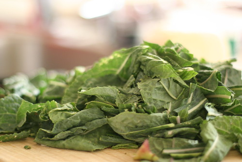 kale for the lasagna