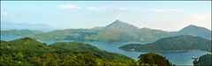 Long Harbour Panorama (austinjosa) Tags: sea panorama hongkong hills newterritories saikung countrypark sharppeak longharbour wongshekpier