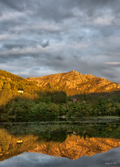 Sunset Mountain (Arnfinn Lie, Norway) Tags: mountain nature water flickr classique hommersk platinumheartaward sonyalpha350 magicunicornverybest tripleniceshot arnfinnlie carlzeizz1680mm carlzeizzlover