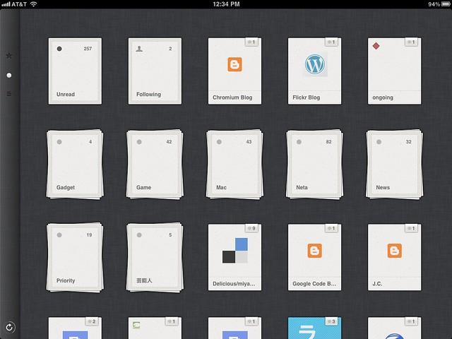 Reeder supports Folder in Google Reader