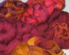 handspun silk warp Sept 2010
