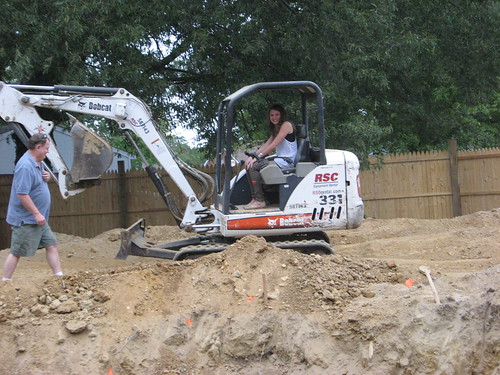alicia drives the bobcat