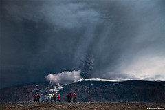 Eyjafjallajkull volcano in Iceland - Tourist attraction (skarpi - www.skarpi.is) Tags: sunset cloud snow black ice dark island volcano lava iceland melting sheep farmers farm smoke glacier crater lamb lambs beast ash vulcan farmer lightning volcanoes sland rsmrk fumes markarfljt mork ggjkull jkull thorsmork lightnings fimmvruhls eyjafjallajkull jokull fljtshl mrk eyjafjallajokull kross hvolsvllur fimmvorduhals krossa gigjokull fljotshlid skarpi hvolsvollur markarfljot