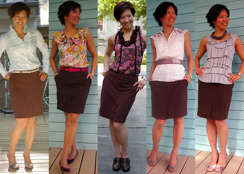 brown pencil skirt 01