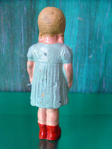 Vintage Miniature Girl Figure (4)
