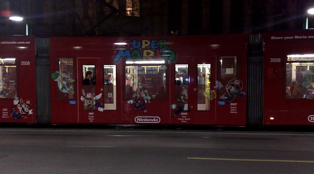 The Super Mario tram!