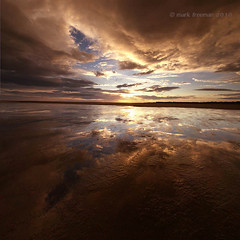 Gold (Mark-F) Tags: sunset beach clouds tide lancashire lythamstannes markf markfreeman fyldecoast stannesbeach sonyalpha300 sonyalphadslra300 tamron1024mmf3545diiildsp markymarkf