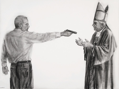 Auto-retrato matando Bento XVI