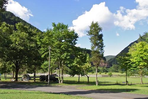麻那姫湖青少年旅行村でキャンプ