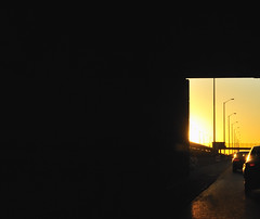 into the sunset (charlesgyoung) Tags: sunset chicago driving d3 eisenhowerexpressway nikonfx