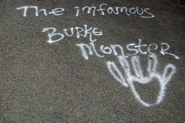burke monster can't spell?