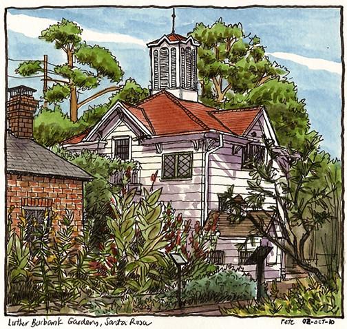 luther burbank gardens, santa rosa