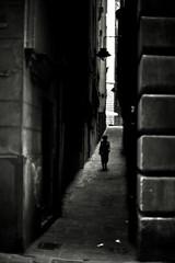 (n i x t e r) Tags: street urban bw italy genoa