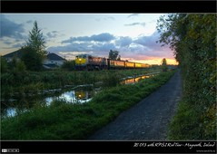 RPSI 'Best of Both' Rail Tour (bbusschots) Tags: ireland reflection clouds train evening canal gm diesel dusk path rail railway loco locomotive 1001nights maynooth hdr pathway irishrail jol kildare royalcanal 073 dodgeburn photomatix tonemapped tthdr rpsi iarnrdireann flickraward 071class thebestofday gnneniyisi