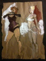 Burlesque figure painting for Animalesque auction