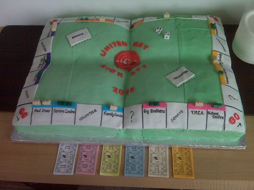 Chaitons LLP Monopoly cake for United Way workplace campaign