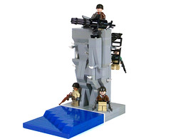 WWII Outpost (*Nobodycares*) Tags: lego nazis wwii worldwarii american ww2 guns base worldwar2 minigun allies outpost brickarms sluban
