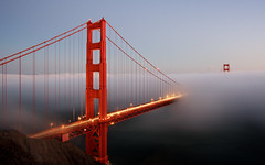 Fog Mystic (A Sutanto) Tags: sf sanfrancisco california ca longexposure bridge usa fog night america lights bay twilight dusk goldengate sfbay ggb