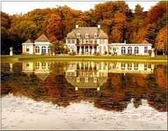 My favourite caf in the fall (On Explore) (jackfre2) Tags: park trees red reflection green castle fall caf yellow reflections fishing pond gallery autum belgium drink terrace snack antwerp jogging scents strolling deurne rivierenhof greenlung provincialdomain