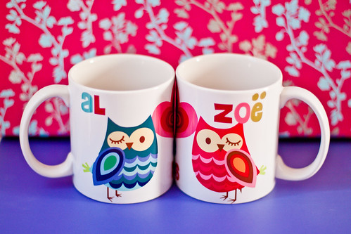 Al & Zoë Owl Mugs - for Owl Friday