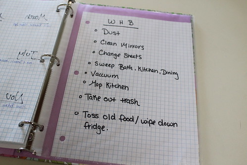 Home Organization Binder