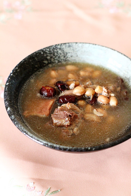 Pork Bone, Peanut & Red Date Soup