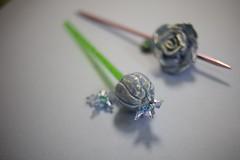 IMG_7875 (Kenji Nakai) Tags: closeup hair japanese hand handmade craft indoor made accessory kanzashi