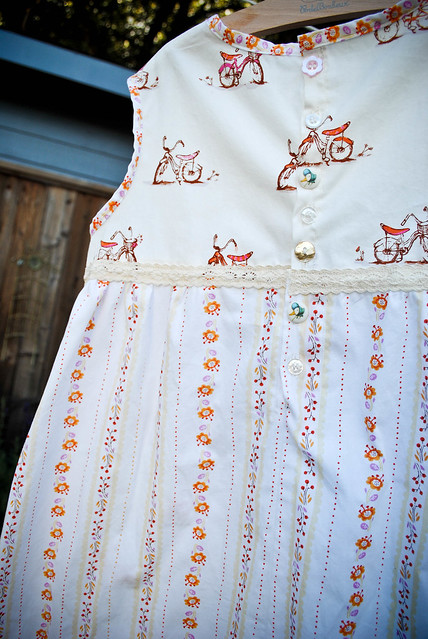 october :: school sewing {tree climbing bicycle tunic}