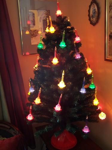 christopher radko shiny brite 42 inch 36 light bubble light tree - Bubble Lights Christmas Tree