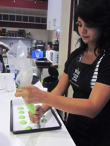 Tamara Piping the Macarons