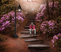 Enjoying.... (aroon_kalandy) Tags: light boy beauty composite sitting adobephotoshop artistic awesome steps fantasy greatshot concept lovely deviantart kozhikode supershot beautifulshot enjoyingmusic sonydslra200 malayalikkoottam aroonkalandy albastock