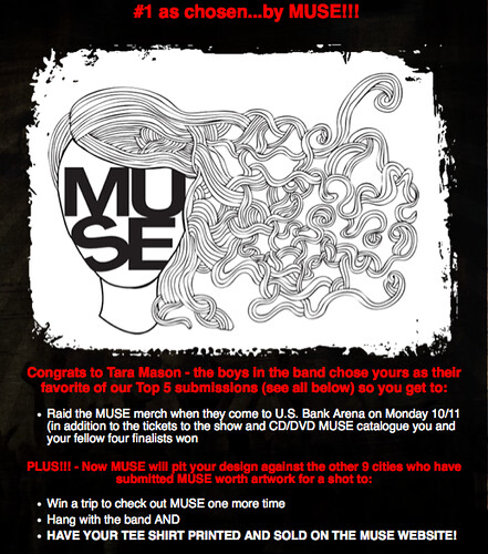 Design a shirt for MUSE!!!