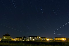 Stars over Cary Park (Chris Wanyo) Tags: longexposure nightphotography startrails d90 1424mm