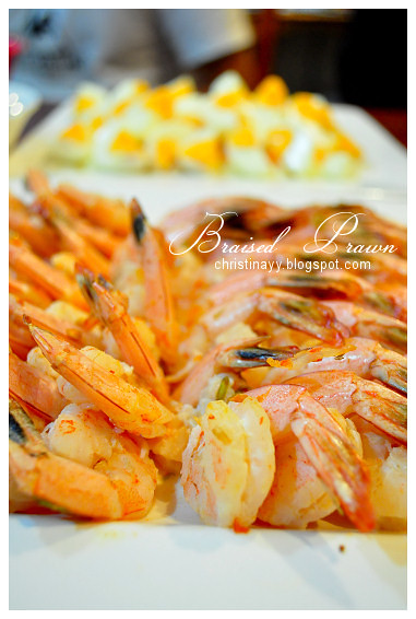 surprise Farewell Party: Boiled Prawns