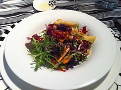 Autumn salad at Missoni's Cucina restaurant, Edinburgh
