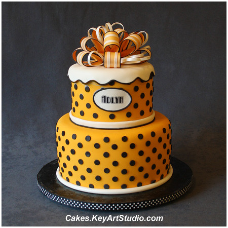 Yellow Polka Dots Cake