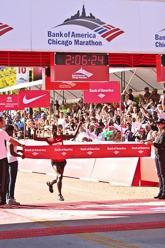 Sammy Wanjiru Chicago Marathon Winner 10-10-10