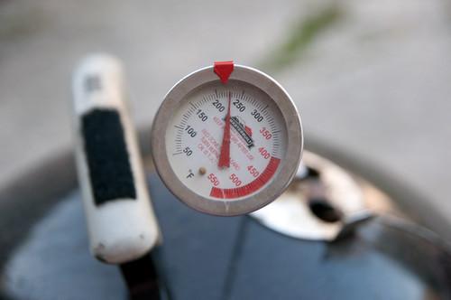 Smoker temperature.