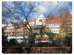 Erste Linie der Huser am Neckar (einfachschn) Tags: color fall digital germany herbst insel altstadt tuebingen neckar tbingen badenwrtemberg neckarinsel