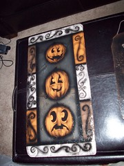 007 (Chad Maybray) Tags: halloween painted pumpkins slate
