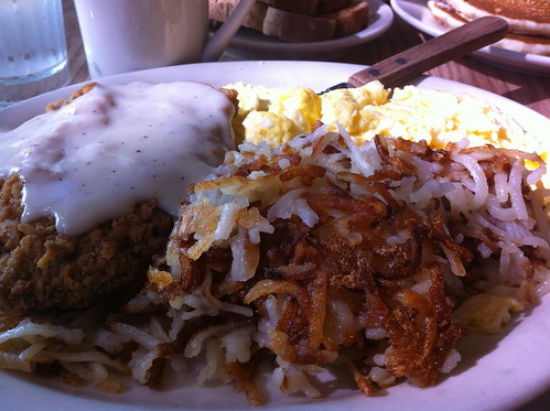 Chicken-fried Steak and Eggs at the Sunrise Cafe