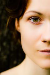 Half Face / Right (dawolf-) Tags: portrait headshot girl redhead eye highlights dof half face head portfoliofaces